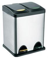 Nerezový nášľapný kôš na triedený odpad TORO 16l