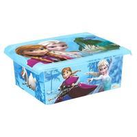 Plastový úložný box s vekom Ľadové kráľovstvo 10l