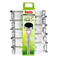 Solárne vonkajšie LED svetlo TORO 10ks