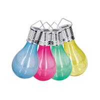 Solárne vonkajšie 4LED svetlo TORO plastová žiarovka