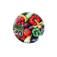 Viečko na zaváracie poháre 10 ks, 82 mm, motív zelenina