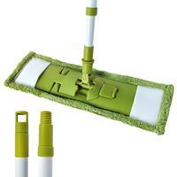 Mop na podlahu, teleskopická tyč, zelený