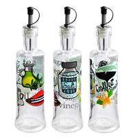 Fľaša na olej / ocot s potlačou, 310 ml, sklo