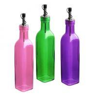 Fľaša na olej / ocot s uzáverom, sklo, assort