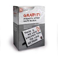 Stojan magnetický na nože - motív Graffiti