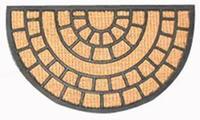 Rohožka polkruh kokos a guma, 40 x 70 cm