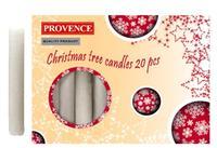 Vianočná sviečka 10cm PROVENCE 20ks biela