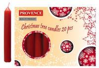 Vianočná sviečka 10cm PROVENCE 20ks červená