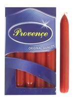 Sviečka bistro 10 ks svetlo červená, 2 x 17 cm