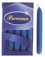 Sviečka bistro 10 ks tmavo modrá, 2 x 17 cm