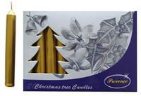 Vianočná sviečka 10cm PROVENCE 20ks zlatá