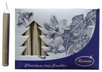 Vianočná sviečka 10cm PROVENCE 20ks strieborná