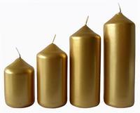 Sviečka adventná zlatá 4 veľkosti, priemer 4 cm