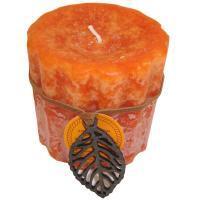Vonná sviečka PROVENCE 7,5cm bazalka / mandarínka