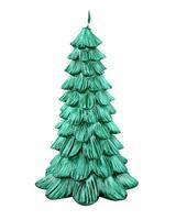 Sviečka vianočná stromček, zelená