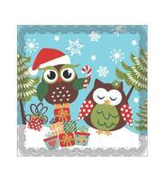 """Podložka pod hrniec """"vianočná sova"""", keramika, štvorec"""
