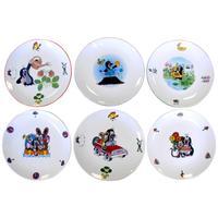 Porcelánový plytký tanier THUN krtko 20,8cm