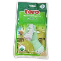 Gumové rukavice TORO aloe veľkosť S