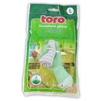 Gumové rukavice TORO aloe veľkosť L