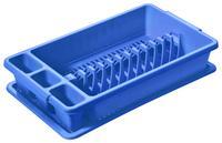 Plastový odkvapkávač s podnosom TONTARELLI 26,5x45cm modrý