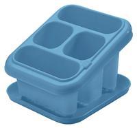 Plastový odkvapkávač na príbory s podnosom TONTARELLI modry