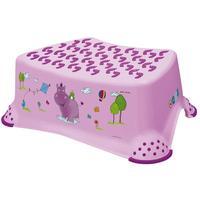 Detská stolička Hippo, s protišmykovým povrchom, ružová