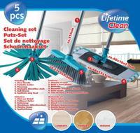 Set čistiaci - 2 x mop, 1 x zmeták