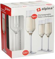 Pohár na šampanské ALPINA 220ml 6ks