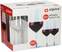 Poháre na červené víno ALPINA 530ml 6ks