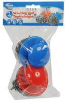 Drôtenka s úchytom 2 ks, nerez + plast, modrá + červená
