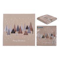 Papierové vianočné obrúsky 3 vrstvy SNOWY FOREST 33x33cm 20ks