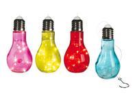 Solárne vonkajšie 10LED svetlo TORO plastová žiarovka