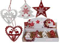 Vianočná závesná dekoracia 9cm srdce