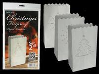 Lampáš vianočný, 2 ks, ohňovzdorný papier