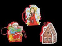 Papierová vianočná dárčeková taška TORO 19x15cm assort