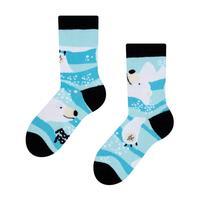 Detské veselé ponožky DEDOLES ľadový medveď 27-30