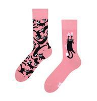 Veselé ponožky DEDOLES ružové mačky 39-42