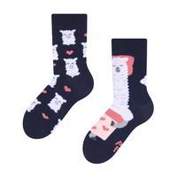 Detské veselé ponožky DEDOLES spiaca lama 31-34