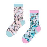 Detské veselé ponožky DEDOLES dúhový jednorožec 27-30