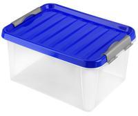 Plastový úložný box s vekom HEIDRUN Clip box 14l