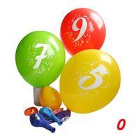 """Balóniky s potlačou čísla """"0"""", 3 ks"""