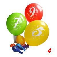 """Balóniky s potlačou čísla """"4"""", 3 ks"""