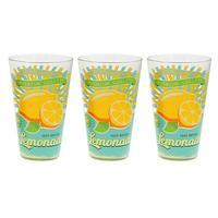 Pohár longdrink 3 ks, 310 ml, citrón