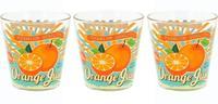 Pohár na vodu 3 ks, 250 ml, pomaranč