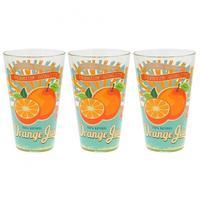 Pohár long drink 3 ks, 310 ml, pomaranč