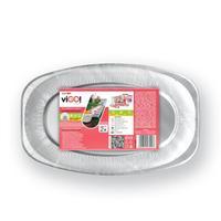 Podnos oválny malý VIGO aluminium, 35 x 24 cm, 2 ks