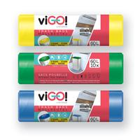Vrecká do odpadkových košov 60l VIGO set 3x10ks
