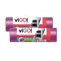 Vrecká do odpadkových košov s uchami 60l VIGO set 2x18ks levandule