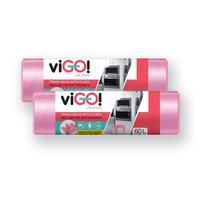 Vrecká do odpadkových košov s uchami 60l VIGO set 2x18ks jahoda