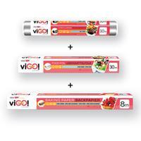Set VIGO! Alobal + papier na pečenie + potravinová fólia